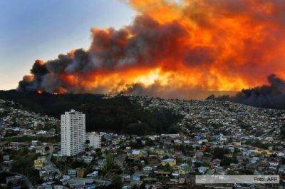 Chile pidió ayuda a la Argentina por el incendio en Valparaíso