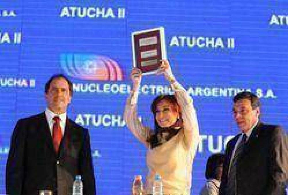 """""""Le pusimos la tapa a un modelo neoliberal y a los pesimistas"""", afirmó Cristina en Atucha II"""