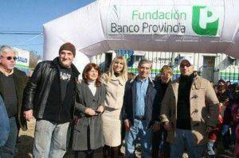 La Fundación Banco Provincia y el Gobierno Municipal realizaron una jornada solidaria en Santa Ana