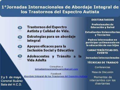 Primera Jornada de abordaje integral de los trastornos del espectro autista