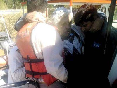 Prefectura Zárate salva a un jubilado de morir ahogado en el Río Paraná