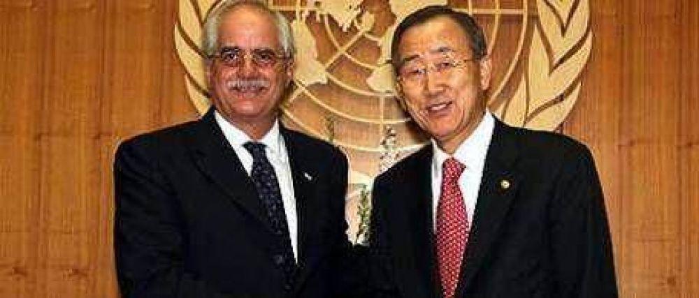 Más apoyo por Malvinas y Taiana con Ban Ki-Moon