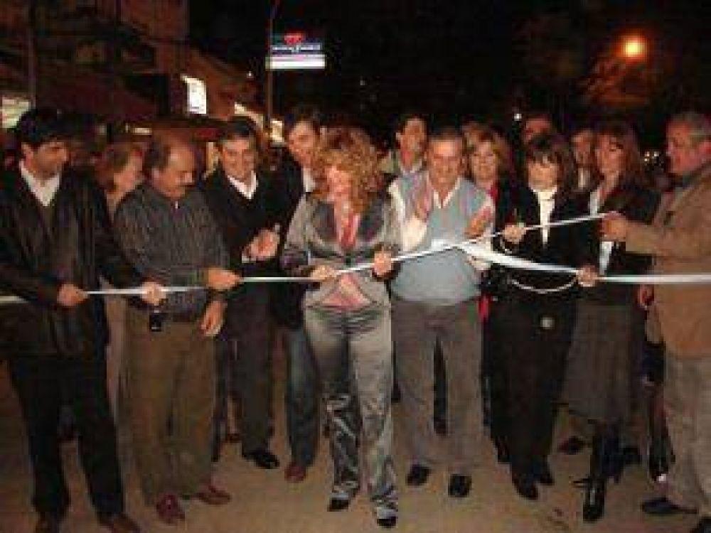 Se inauguró la repavimentación de Alberdi y el Paseo de la Civilidad