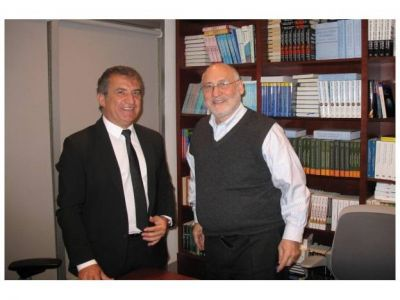 Urribarri se reunió con el Premio Nobel Joseph Stiglitz