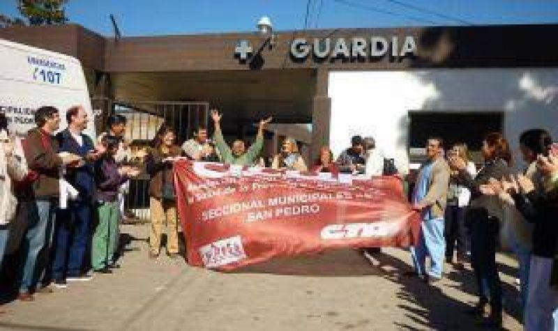 Médicos de Cicop vuelven a las protestas con acto en San Pedro