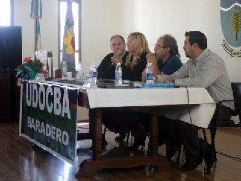 Miguel D�az, Sec. Gral de UDOCBA, visit� Baradero