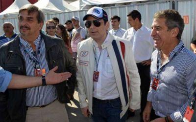 Urribarri acompañó a Santiago del Estero en la llegada del Moto GP