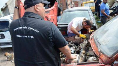 Mar del Plata: dos detenidos en un desarmadero en Barrio Hipódromo