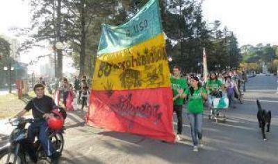 Marcha a favor de la despenalización de la marihuana en Bahía Blanca