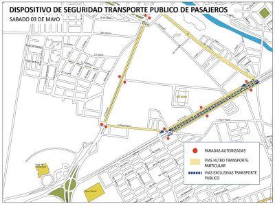 Recorrido especial para el transporte público por el partido entre Central Norte y Juventud Antoniana.