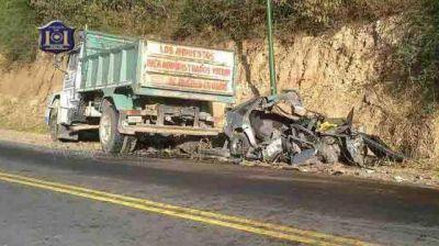 Una familia completa murió en la ruta entre Salta y Cafayate