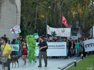 Hoy Rosario se suma a la marcha por la despenalización de la marihuana