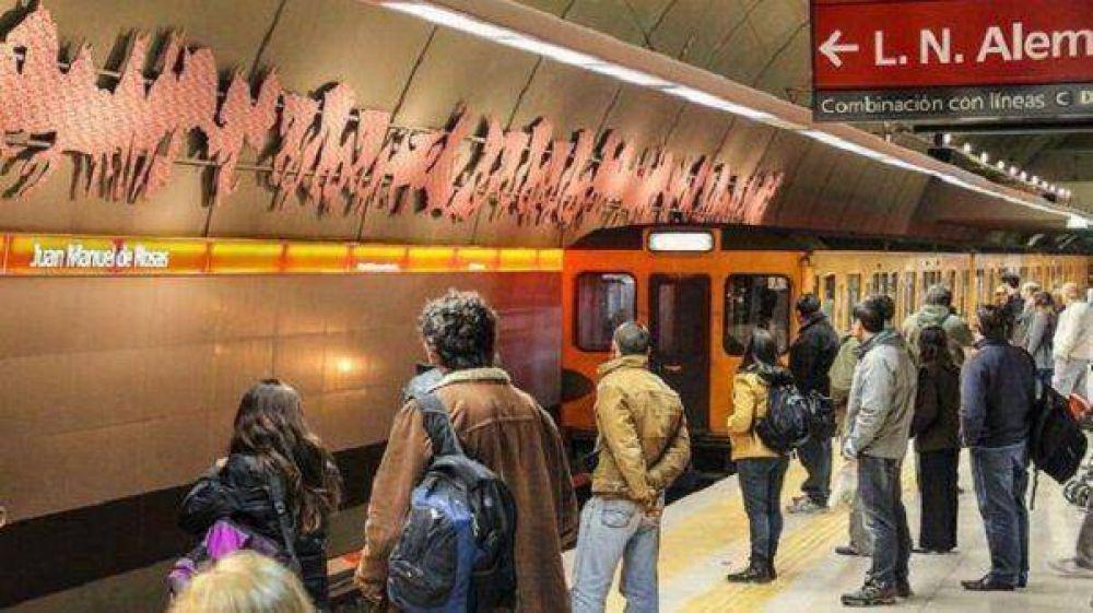 Un grupo de metrodelegados cuestionó el plan de Macri en la Línea B