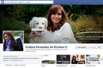 Cristina es la presidenta con más opiniones positivas en Facebook