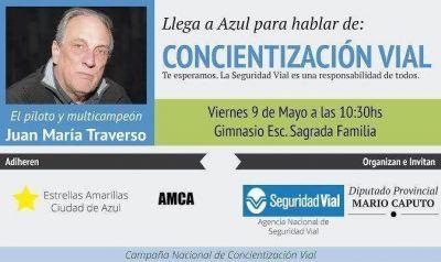 Traverso expone en Azul sobre Educación Vial