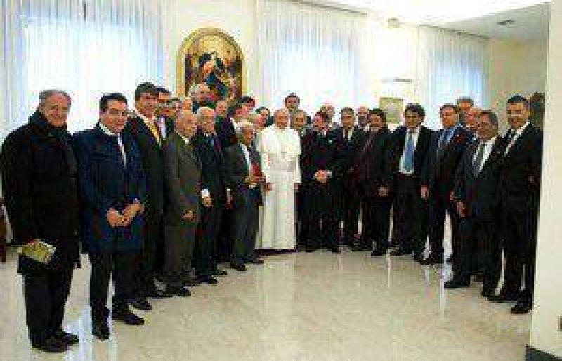 Cal� y el secretariado de la UOM viajaron a Roma para ver al papa Francisco