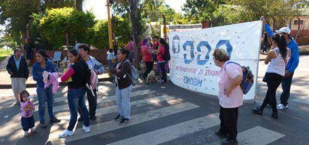 Protestas de la CCC interrumpen el tránsito en varios lugares de Posadas