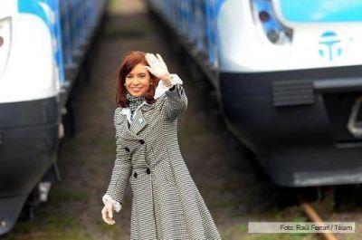 Cristina presentó los nuevos trenes del Sarmiento y destacó que son