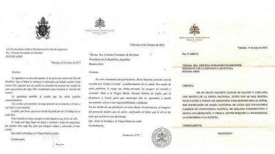Las diferencias entre las cartas que recibió la Presidente