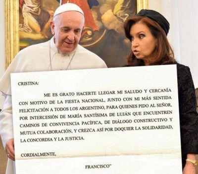 Ahora el Vaticano dice que la carta del Papa a Cristina es verdadera