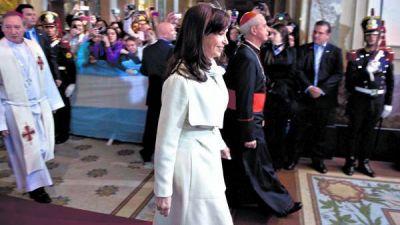 Cristina volvi� a la Catedral y escuch� un llamado al di�logo