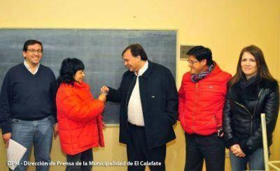 Belloni entregó las aulas y mañana retoman las clases en la EPP N° 73