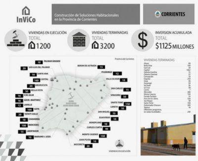 Con la construcción de viviendas como prioridad provincial