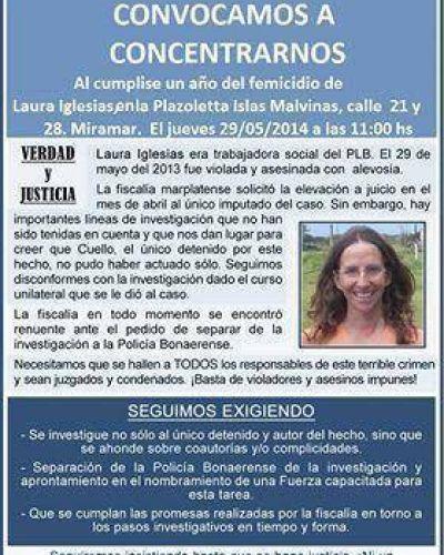 A un año del femicidio de Laura Iglesias