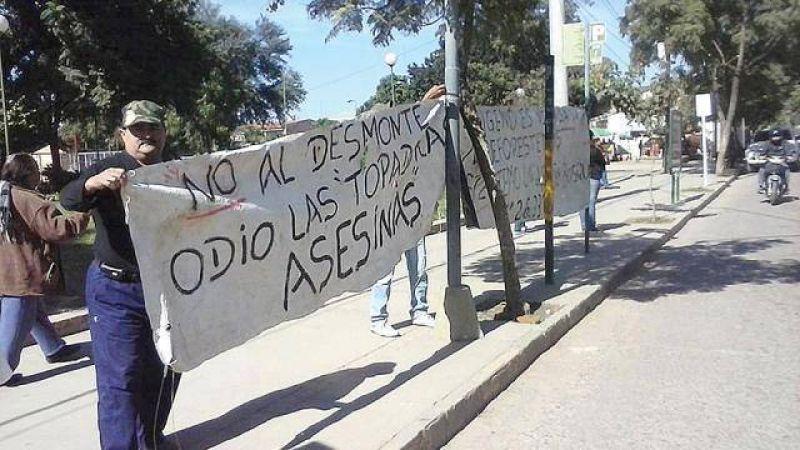 Vecinos reúnen firmas contra el desmonte en Saucelito, Orán