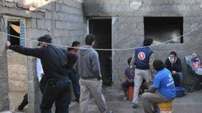 Incendio provocó daños totales en una vivienda