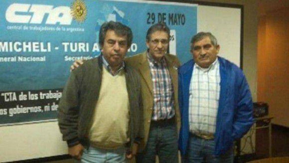 Agliano reelecto, recibió un fuerte apoyo en la CTA Tucumán