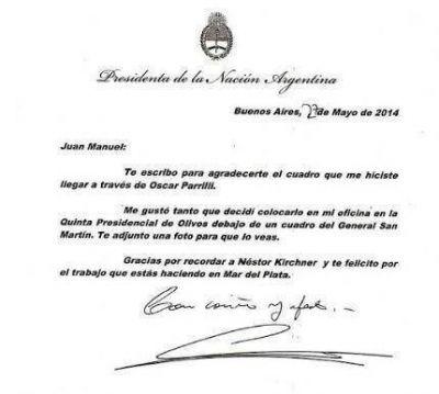 Juan Manuel Rapacioli recibi� una conceptuosa carta de Cristina