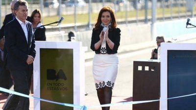 Cristina compartió un acto con Macri:
