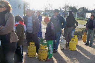 Aumentan las quejas por la falta de gas en garrafas