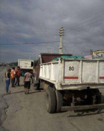 Campaña de transporte de áridos y seguridad laboral