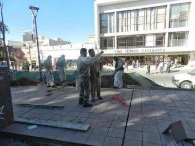 La Plaza 25 de Mayo tiene un avance del 65%