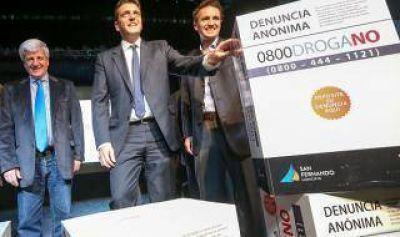 San Fernando: Massa y Andreotti presentaron un 0800 para denunciar al narcotráfico