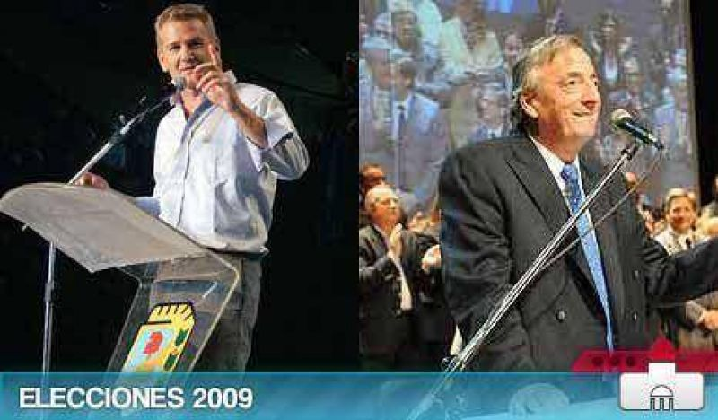 Kirchner y De Narváez buscan evitar que se les escurran los votos
