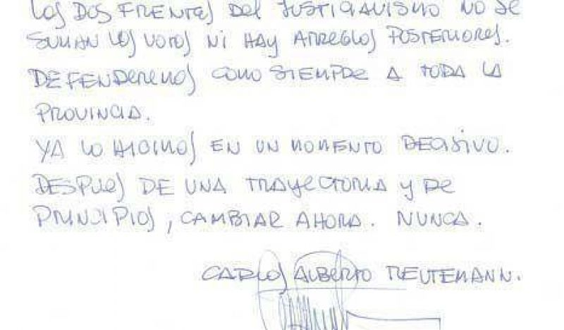Lole se digitalizó con carta manuscrita
