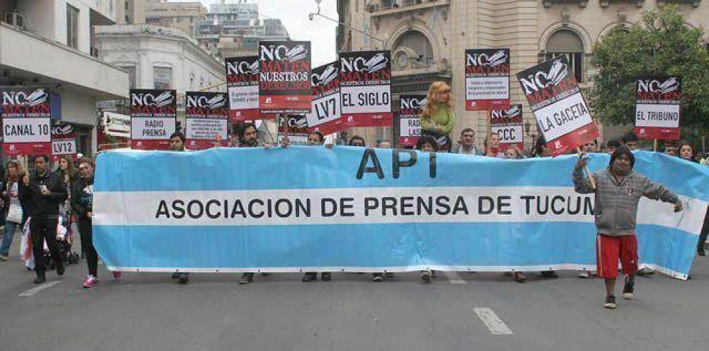 Trabajadores de prensa marcharon contra la precarización, la violencia y el acoso laboral
