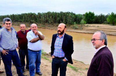 Insfrán monitoreó en terreno estado situacional del rio Picomayo