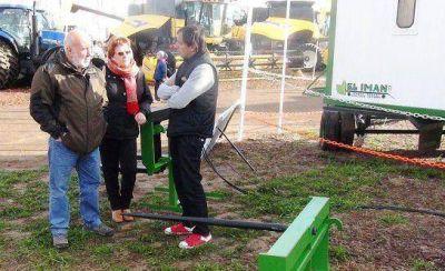 Ferrán, junto a empresarios pampeanos en la AgroActiva