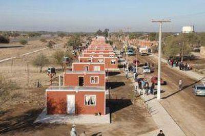 Entregaron 100 m�dulos habitacionales en La Chimbera