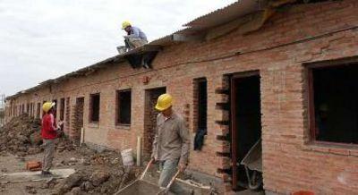 Continúa la construcción de viviendas en Machagai