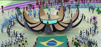 Concluy� la fiesta de inauguraci�n del Mundial, que dur� 25 minutos