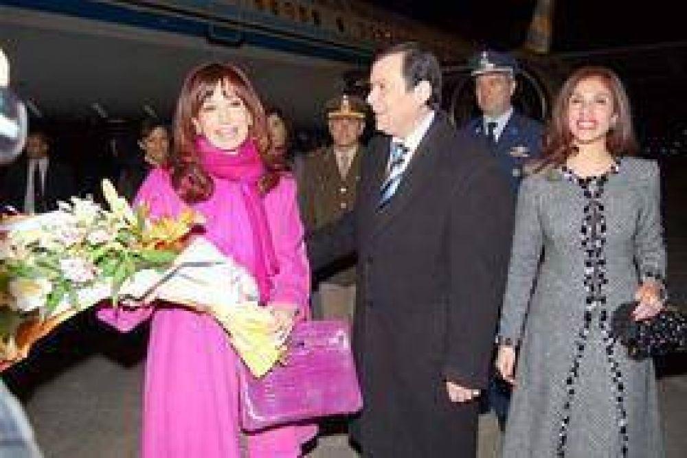 Cristina recibió el cariño de la gente