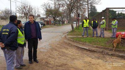 Rafaela: a buen ritmo continúa pavimentación Bº Jardín