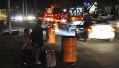 Falta luz y señalización en la obra del Sólo Bus