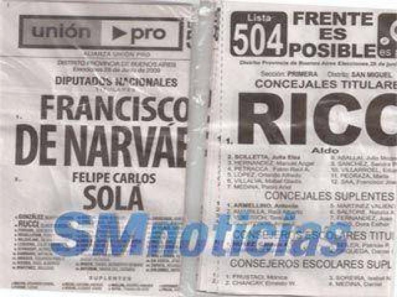 Reparten la lista 504 cortada y ensobrada LA JUGADA DE RICO QUE ENFURECE A RODRIGUEZ SAA