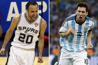 Manu Ginóbili, campeón, y Lionel Messi, goleador: dos argentinos de los que habla todo el mundo